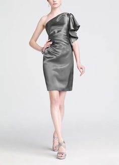 02e7baaebf3fb This short one shoulder charmeuse dress is adorned with chunky stone  embellishment for ultimate appeal. Features flutter sleeve for dramatic  affect.
