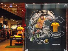 Nike Football retail window display sports display.