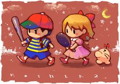 Earthbound art, closer to their video game appearance