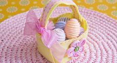 Huopainen pääsiäiskori