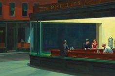 Variations on a theme -- The Nighthawks Last Supper (an homage to Edward Hopper) by brandtk. Edward Hopper Paintings, Signs Youre In Love, Happy Friday The 13th, Dark City, Canvas Art, Canvas Prints, Last Supper, Art Institute Of Chicago, Back To The Future
