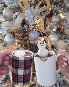 christmas holiday hot chocolate cocoa mugs_snowman marshmallow