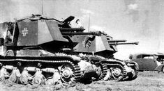 A Panzerjager 35R (f) with it's 4,7cm Pak (t )