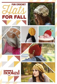 Crochet Hat Patterns! My favorite patterns to crochet during fall