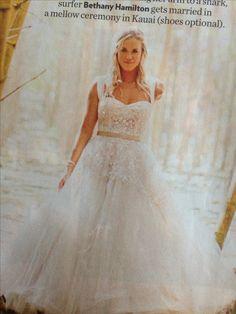Bethany hamilton's wedding dress, love it