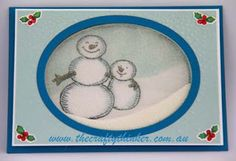 #GDP012. Stampin' Up! Snow Place, Christmas card, Xmas, Snowman, Shaker