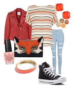 """""""Untitled #121"""" by klm62 on Polyvore featuring MANGO, Topshop, Oasis, Converse, OPI, Loren Hope and J.Crew"""