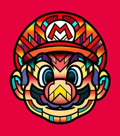 Mario by Van Orton Design Arte Do Hip Hop, Geeks, Psy Art, Nintendo Characters, Mario And Luigi, Posca, Super Mario Bros, Game Art, Art Drawings