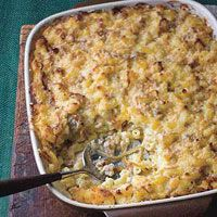 Baked Macaroni and Gouda with Italian Sausage and Caramelized Onions