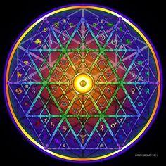 Vida Sagrada Mandalas | Energía de Espacio-tiempo de Frecuencia Astro-teológica Alchemical Traza