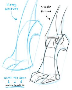 Feet are hard to draw, so I'm gonna break it down into simple forms. Once you learn and understand these forms, drawing feet is much easier. Watch and learn at proko.com/259