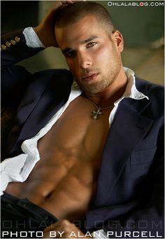 James guardino - a black italian male model