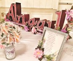 Wedding- sweet 16- sweet table- free standing- custom name paint or glitter