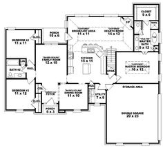 #654177 - One and a half story 3 bedroom, 2 bath french traditional style house plan : House Plans, Floor Plans, Home Plans, Plan It at HousePlanIt.com