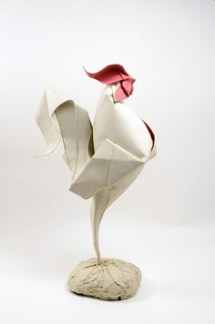Wet Fold Origami Technique Gives Wavy Personality to Paper Animals by Artist Hoang Tien Quyet  http://www.thisiscolossal.com/2015/05/wet-fold-origami/