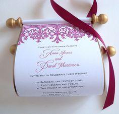 Fairytale Wedding Invitation medieval scroll by ArtfulBeginnings