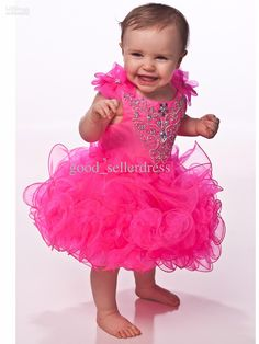 primeira comunhao on sale at reasonable prices, buy Lovely Pretty Hot Pink Crystal Beaded Toddler Pageant Gowns Girls Cupcake Pageant Dresses Vestido Primeira from mobile site on Aliexpress Now! Toddler Pageant Dresses, Glitz Pageant Dresses, Pagent Dresses, Pageant Wear, Cheap Flower Girl Dresses, Girls Dresses, Cheap Dress, Flower Girls, Dresses 2013