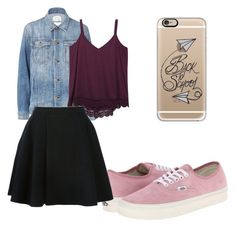 """""""Untitled #12"""" by belencita4928 on Polyvore featuring Current/Elliott, Wet Seal, Vans, Avelon and Casetify"""