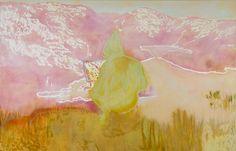 Peter Doig, Figure In Mountain Landscape II, 1998, oil on canvas, 229 x 359.