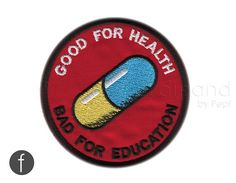 Japanese Anime Akira Good for Health Bad for Education Iron on Patch…