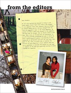 FSC STYLE Magazine (Letter from the Editors) by nebartwork, via Flickr