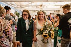 Alex and Jayne's sunny sunflower beach wedding. Many thanks to Paul for the fab photos @albionrow