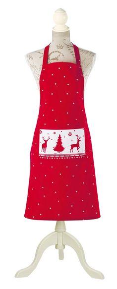 On garde l'esprit de Noël jusque dans la #cuisine avec ce #joli #tablier de la collection #Natacha de chez #Country #Casa. Prix : 9,90 €. www.countrycasa.fr