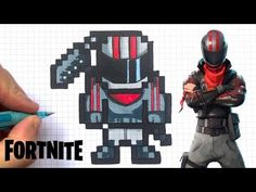 chadessin pixel art fortnite - YouTube Perler Beads, Video Game Crafts, Modele Pixel Art, Pokemon Gif, Pixel Color, Canson, Human Drawing, Beaded Crafts, Art Classroom