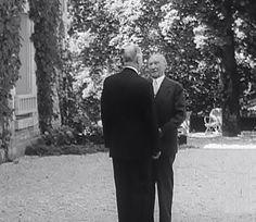 14 septembre 1958 � Konrad Adenauer rend visite � Charles De Gaulle