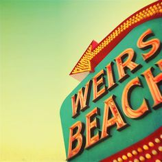 mid century beach signage - Google Search