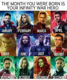 I got Bucky. so I have a very tragic backstory and memory issues. Couldn't it be birthday month = avengers boyfriend <<<Tony Staaark<<<<<Yasssss! I got Gamora! Avengers Humor, Marvel Jokes, The Avengers, Funny Marvel Memes, Dc Memes, Marvel Dc Comics, Funny Memes, Avengers Quiz, Wanda Avengers
