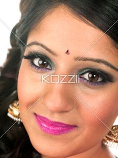 indian woman - Beautiful Indian woman in a close-up image