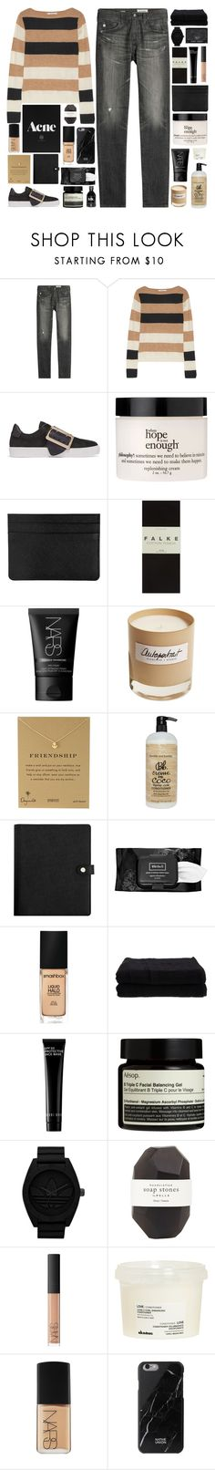 """""""Open your eyes and look at my ambition"""" by pure-and-valuable ❤ liked on Polyvore featuring AG Adriano Goldschmied, MaxMara, Burberry, philosophy, Falke, NARS Cosmetics, Olfactive Studio, Dogeared, Bumble and bumble and Kat Von D"""