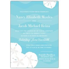 Ocean+and+Sand+Dollars+Wedding+Invitations