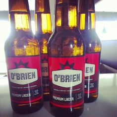 O'Brien Gluten Free beer. This is going to be one of the hardest parts of GF... No beer. I bet this tastes like crap.