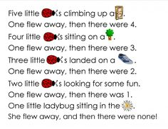 Ladybug Craft Free Printable and New Packet Preschool Poems, Preschool Activities, Kindergarten Songs, Songs For Toddlers, Kids Songs, Bug Songs, Grouchy Ladybug, Ladybug Crafts, Finger Plays