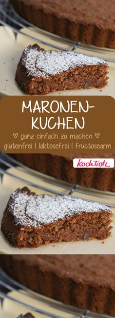 Maron cake - This chestnut cake is delicious and easy to make. One of my favorite searches in autumn and winter. Low Carb Recipes, Cooking Recipes, Winter Desserts, Sweet Potato Hash, Gluten Free Cakes, Different Recipes, Winter Food, Creative Food, Fall Recipes