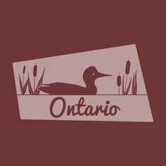 Art print of Canadian Province of Ontario, highlighting one of Ontario's provincial animals. Canadian Art, The Province, Freelance Illustrator, Pigment Ink, All Print, Ontario, Art Projects, Digital Art, Flag