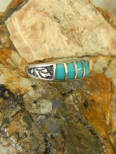 Sterling Native American Ring by hollywoodrings on Etsy, $35.00