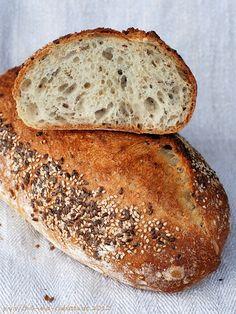 Chili und Ciabatta: Brot mit Leinsamen und Sesam