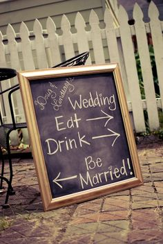 Cute chalkboard signs...maybe display some with favourite quotes? Would also work well for directions around the venue/beach