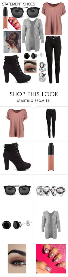 """""""Untitled #414"""" by styleislife12 ❤ liked on Polyvore featuring Boohoo, MAC Cosmetics, Prada and Sans Souci"""