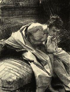 cobinthebay:    Sargent, Study of Belleroche, 1882