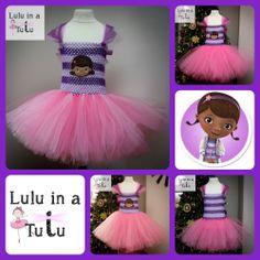 Doc McStuffins Inspired Tutu by Lulu in a Tutu  Visit https://www.facebook.com/LuluinaTutu for more tutu designs