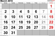 Diaversary – Anniversary of being Diagnosed with Diabetes March 2015 Calendar, 2015 Calendar Printable, Canada Holiday, Bank Holiday, Calender Template, Friday Saturday Sunday, Planer, Diabetes, Printables