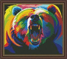 Gallery.ru / радужный Медведь - Радужное - Norsvet
