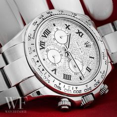 Getting flash with the Pave Diamond Dial #Rolex #Daytona
