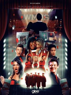 'Glee Season Poster by IconicNephilim Finn Glee, Cory Glee, Glee Season 1, Lea And Cory, Glee Quotes, Finn Hudson, We Are The Champions, Glee Club, Broadway
