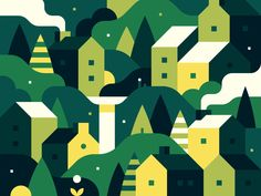 Random Town Crop designed by Alex Pasquarella for Canopy. Connect with them on Dribbble; the global community for designers and creative professionals. Forest Illustration, House Illustration, Retro Illustration, Digital Illustration, Forest Map, Forest City, Magic Forest, Pretend City, Abstract City