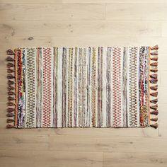 Chindi Multicolor Fringed Rug
